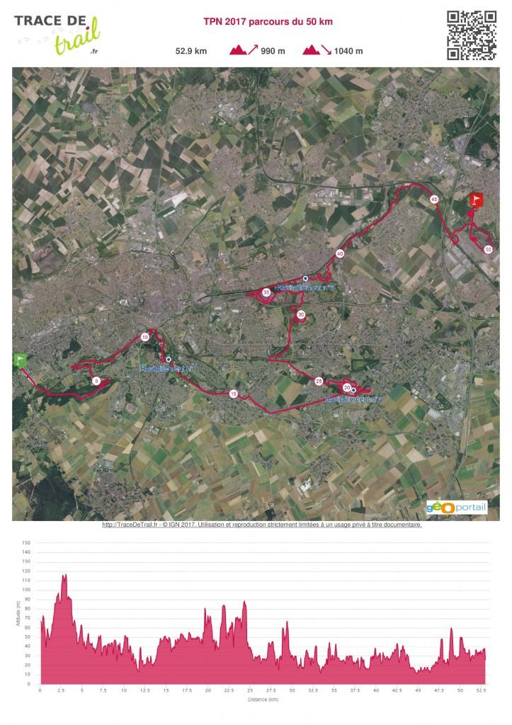 TPN 2017 parcours du 50 km